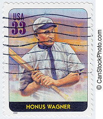 USA - CIRCA 2000: stamp printed in the USA shows Honus...