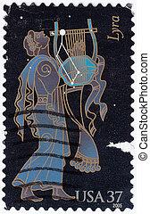 USA - CIRCA 2005 : stamp printed in USA shows symbol of...