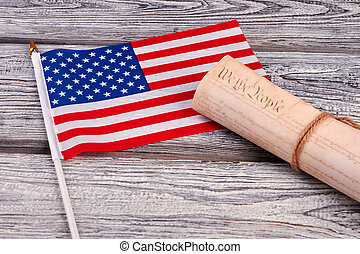 USA cocktail flag and constitutional document. Constitution...