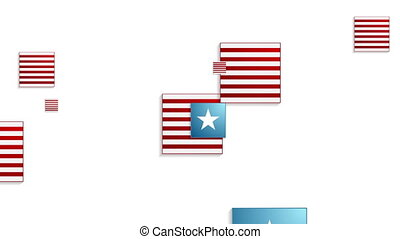 Usa colors abstract geometric video animation - Usa colors...