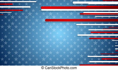 USA colors abstract video animation