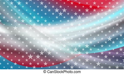 USA colors and stars abstract bright video animation