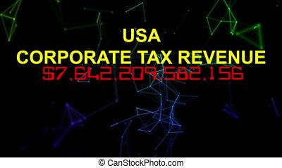 USA corporate tax revenue live clock counter