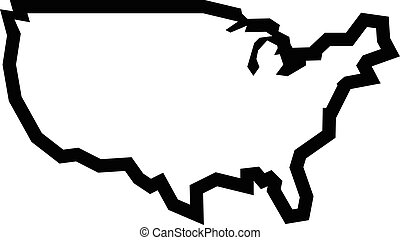 USA Country Shape