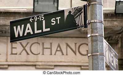 usa, cserél, wallstreet, new york, részvény
