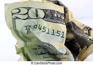 USA Currency Twenty Dollar Bill - Fragment of Twenty Dollar ...