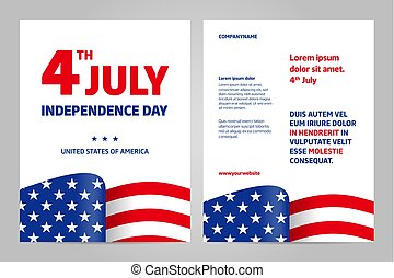 usa, day., july., 4, th, indépendance, heureux