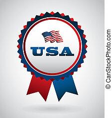 USA design over gray background, vector illustration