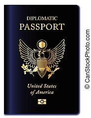 USA Diplomatic Passport - United States of America ...