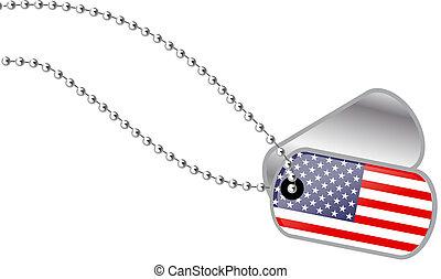 USA Dog tag