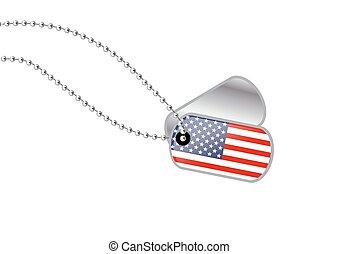 USA Dogtag - USA Dog tag