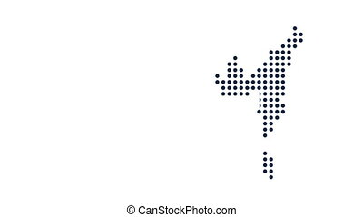 USA Dot Map. Concept for Networking, Technology and...