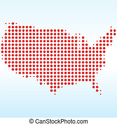 USA Dotted Map