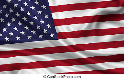 USA - waving flag of the united states of america