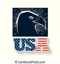 USA eagle design