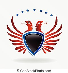 USA eagle shield logo