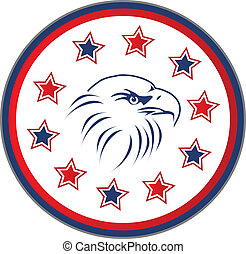 Usa eagle with stars