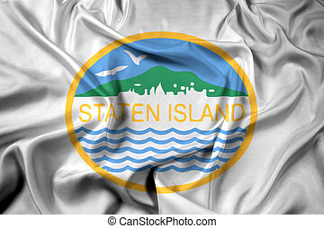 usa, eiland, staten, het watergolven dundoek, new york