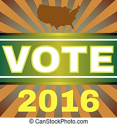 Usa Election 2016 Vote Banner