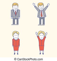 USA election candidates characters illustration