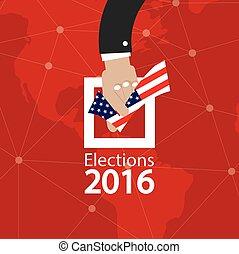 USA Election Concept Vector