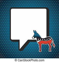 usa, elections:, demokratikus, politic, üzenet