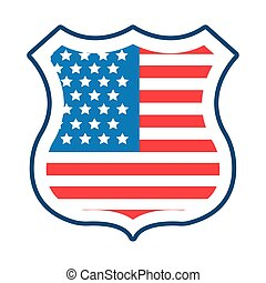 usa elections flag in shield guard flat style vector ...