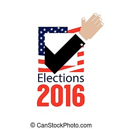 USA Elections Vote 2016 Concept