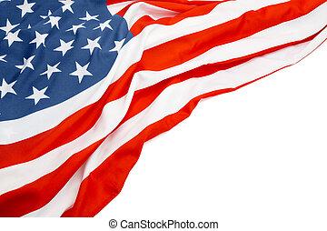 usa, espace, texte, drapeau, blanc, ton