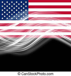 usa, espace, texte, résumé, vague, élégant, drapeau, conception, ton
