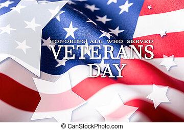 usa, flag., amerikan, flag., veterer, day., premiera, alla,...