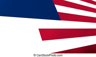 USA flag intro in animation