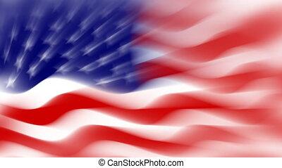 USA flag background, loop