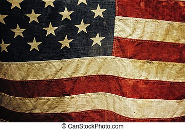 USA flag background.