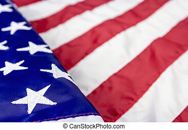 USA flag background with copy space