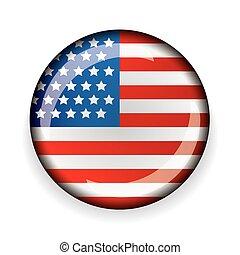 USA flag badge vector