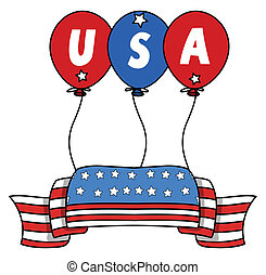 USA Flag Banner Vector