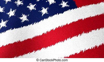 USA flag brush strokes