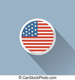 USA Flag Button Icon