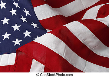 USA flag - Closeup of ruffled American flag