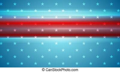 Usa flag colors abstract video animation