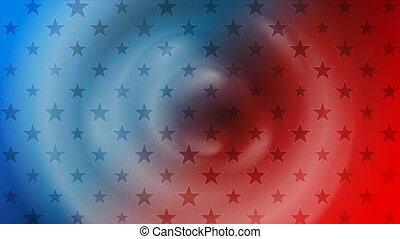 USA flag colors and stars abstract american motion background. Seamless loop. Video animation Ultra HD 4K 3840x2160