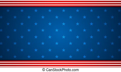 USA flag colors video animation