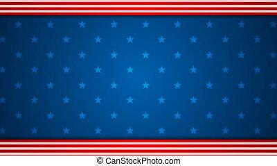 USA flag colors video animation