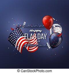 USA flag day background.
