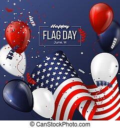 USA flag day holiday design.