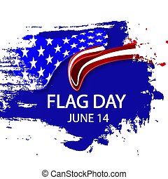 USA flag day in brushstroke style