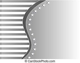 USA flag decorative grey frame background
