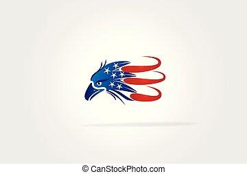 USA Flag Eagle logo