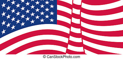 USA flag  - USA flag, United States of America flag